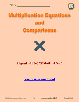 Multiplication Equations and Comparisons - 4.OA.1