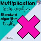Multiplication Error Analysis - Standard Algorithm