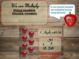 PowerPoint  Multiplication Whole #, Decimals, Fraction, & Mixed Numbers