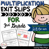 Multiplication Exit Ticket Slips 3rd Grade