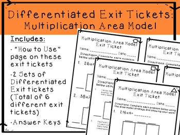 Multiplication Exit Tickets- Area Model