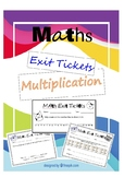Multiplication Strategies Exit Tickets