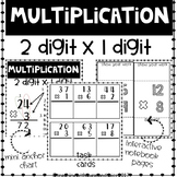 Multiplication 2x1 Digit Task Cards