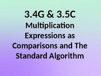 Multiplication Expressions and Comparisons PowerPoint