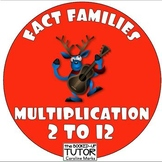 {Multiplication FACT FAMILIES} {Christmas fact families} {Christmas times table}
