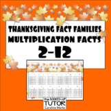 {FACT FAMILIES multiplication and division} {THANKSGIVING multiplication}