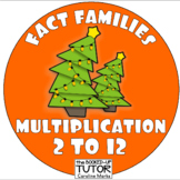 {Christmas FACT FAMILIES} {FACT FAMILY TRIANGLES} {Christmas multiplication}