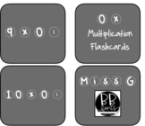 Multiplication FLASH cards (including answers)