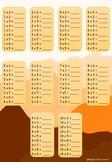 Multiplication chart FREE worksheets