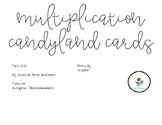 Multiplication Fact 0-12 CandyLand Cards