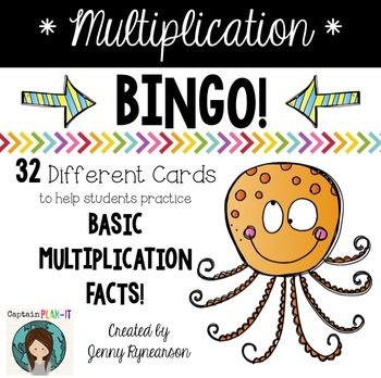 Multiplication Fact BINGO! With cute ANIMALS!