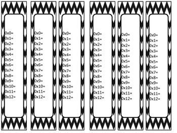 Multiplication Fact Bracelets