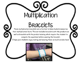 Multiplication Fact Bracelets