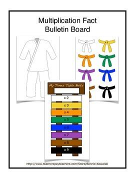 Multiplication Fact Bulletin Board