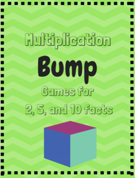 Multiplication Fact Bump Game-Facts 2, 5, 10