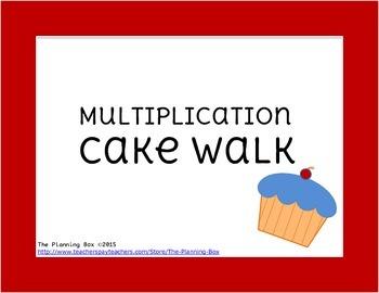 Multiplication Fact Cake Walk