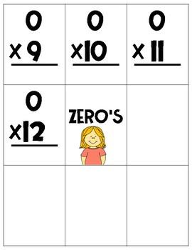 Multiplication Fact Card Practice