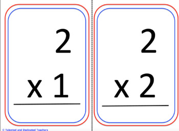Multiplication Fact Cards 1-12