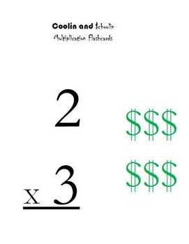 Multiplication Fact Cards