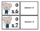 Multiplication Flash Cards Mouse Themed (x0-x12)