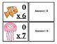 Multiplication Flash Cards Ocean Themed (x0-x12)