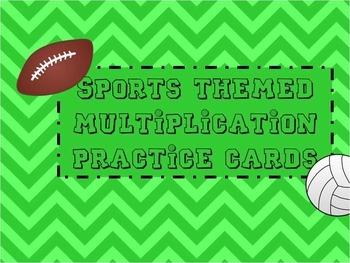 Multiplication Fact Cards Sports Themed (Editable)