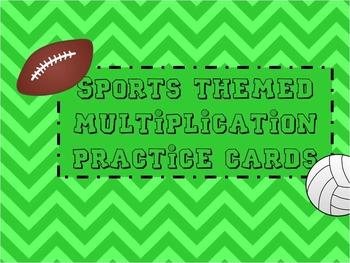 Multiplication Fact Cards Sports Themed (Editable)
