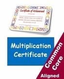 Multiplication Fact Certificate