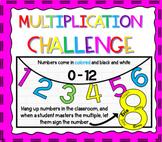 Multiplication Fact Challenge #MondayMathDeals