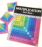 Multiplication Fact Chart --- Black & White // COLOR