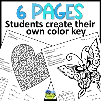 Multiplication Facts Practice- Color by Number with a Twist
