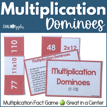 Multiplication Fact Dominoes Game
