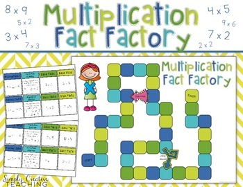 Multiplication Facts Board Game