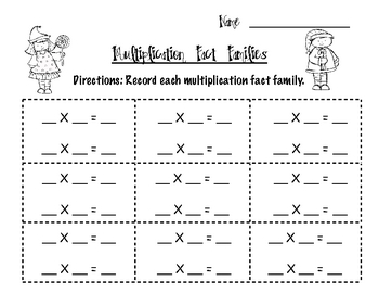 Multiplication Fact Families 0-5