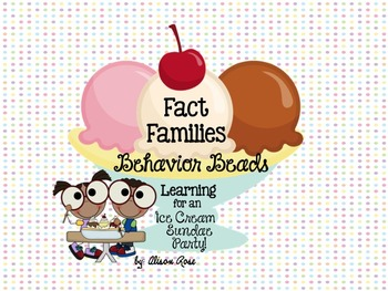 Fact Families Behavior Beads-Math