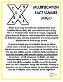 Multiplication Fact Families Bingo