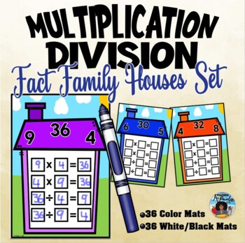 Multiplication/Division Fact Families Houses Wipe Off Mats Set