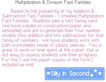 Multiplication Fact Family Houses