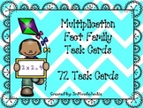 Multiplication Fact Family Task Cards 2-12