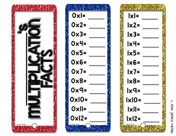Multiplication Fact Fans {Products to 144}