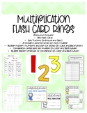 Multiplication Fact Flash Cards Rings