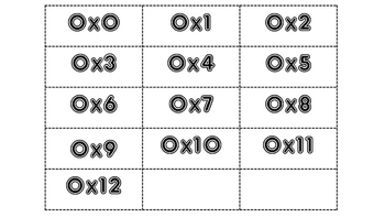Multiplication Fact Flash Cards ALL  (0-12)