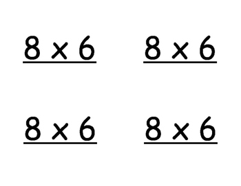 Multiplication Fact Flashcards - Using Strategies and Models - FULL SET!