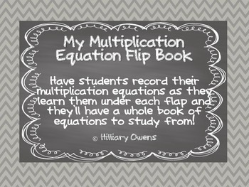 Multiplication Fact Flip Books