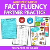 Multiplication Facts Partner Activity - Karate Theme