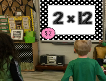 Multiplication Fact Fluency 1, 2, 5, 10, and Mixed to 12 Interactive Game