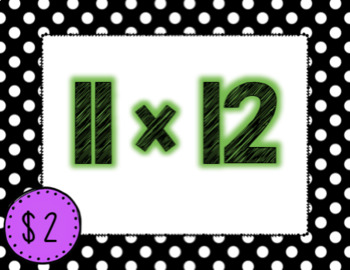 Multiplication Fact Fluency 11, 12, and Mixed to 12 Interactive Game