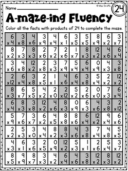 Canny image in math fact fluency games printable