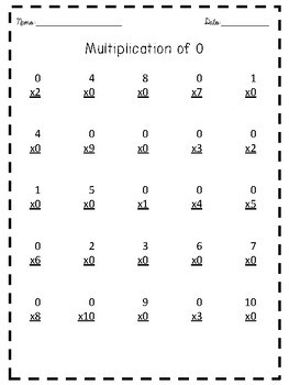 Multiplication Facts Pack