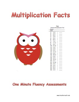 Multiplication Fact Fluency Assessments